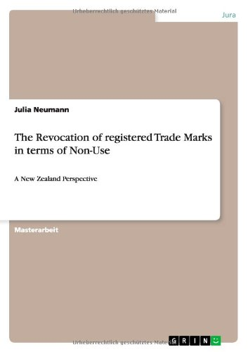 The Revocation of Registered Trade Marks in Terms of Non-Use (German Edition)
