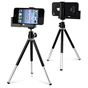eForCity Tripod Phone Holder for iPod touch 5G - Black