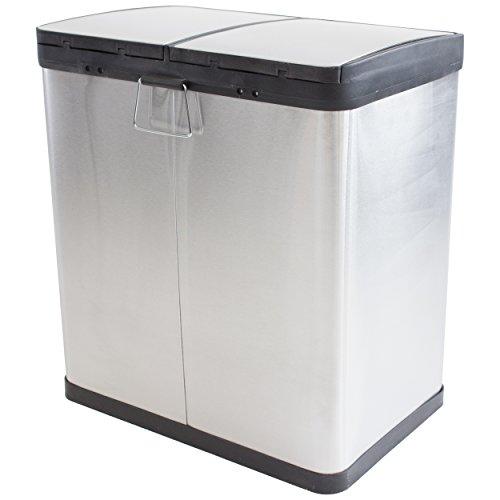 m lleimer abfalleimer edelstahl duom lleimer 2 fach m lltrenner treteimer 2x25 liter 50 liter. Black Bedroom Furniture Sets. Home Design Ideas