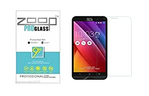 Zoop Premium 2.5D Rounded 9H 2.6mm Anti Burst Tempered Glass for Asus Zenfone 2
