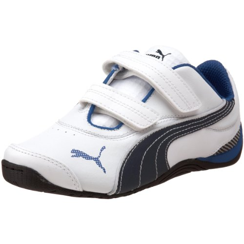 PUMA Kids' Drift Cat III L V Sneaker,White/Snorkel Blue/White,7 M  US Toddler