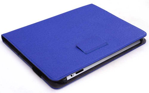 Indigo Blue Universal Book Style Cover Case with Built-in Stand [Accord Series] for Jazz Ultra Tab C925 9 inch Tablet + EnvyDeal Velcro Cable Tie sale off 2015