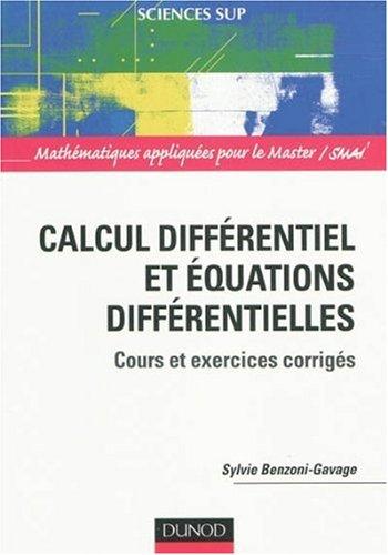 calcul différentiel et équations différentielles , cours et exercices corrigés