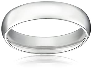 Men's Platinum Comfort-Fit Plain Wedding Band (5 mm), Size 9