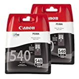 Twin PG540 Canon Black Printer Ink Cartridges for Canon Pixma MG2150 MG3150 MG4150 MX375 MX435 MX515