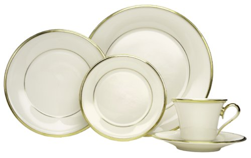Lenox Eternal Gold-Banded Fine China Dinnerware Set, 20-Pc. Service for 4