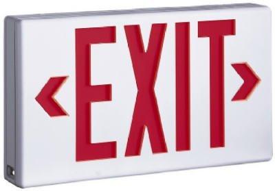 Cooper Lighting Lpx60Rwh Led Ac Sure-Lites Exit Light - Red Stencil