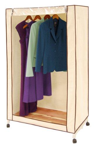 Pro mart dazz cedar wardrobe closet natural canvas 36 inch natural