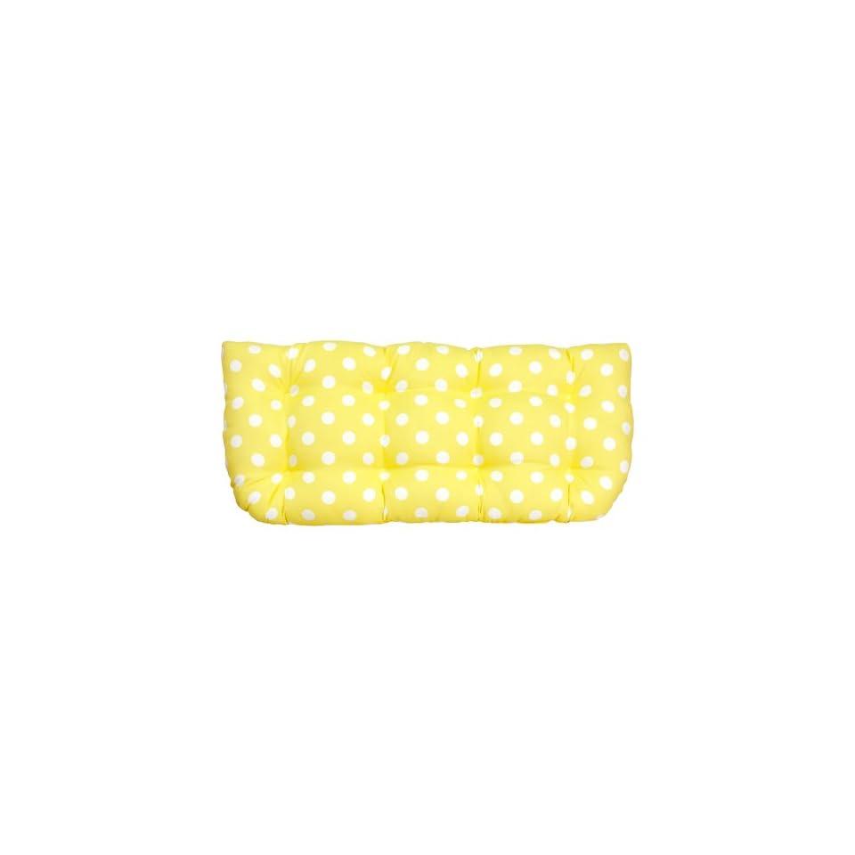 3411 and 3478 Loveseat Cushion Yellow Polka Dots Patio, Lawn & Garden