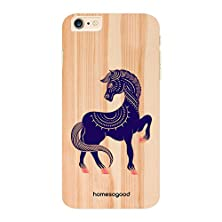 buy Homesogood Abstract Prancing Horse Yellow 3D Mobile Case For Iphone 6 Plus (Back Cover)
