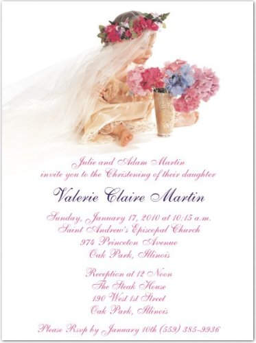 Wee Princess Baptism Christening Invitations - Set Of 20 front-1027454
