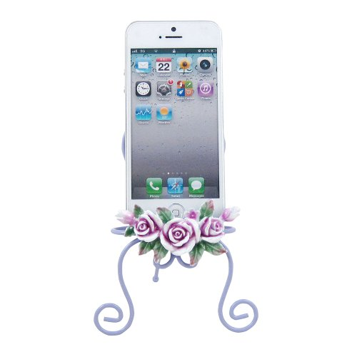 Victorian Rose Cell Phone Holder Display Stand Lavender front-204890