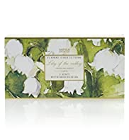 3 Floral Collection Lily of The Valley Soaps