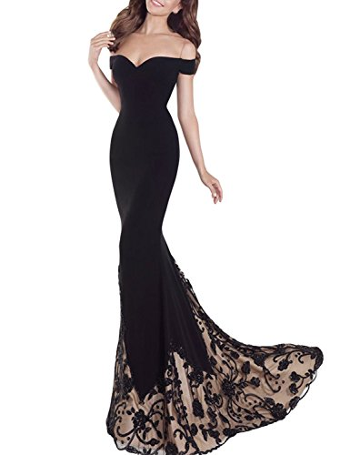 SeasonMall-Womens-Prom-Dresses-Mermaid-Off-The-Shoulder-Spandex-Tulle-Dresses