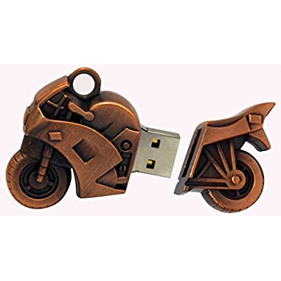 16 GB Pen Drive Brown Color Bike Shape USB 2.0 Pen Drive MT1025