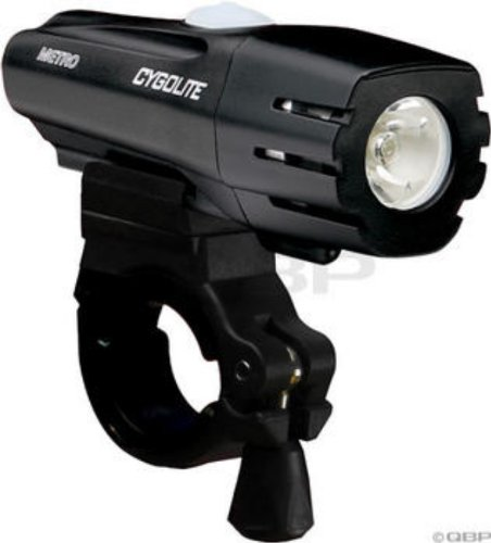 Cygolite Metro 300 Lumen USB Rechargeable Bicycle Headlight, Black, One Size