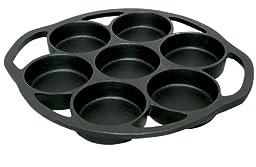 King Kooker 7BPS Pre-seasoned Cast Iron Biscuit Pan