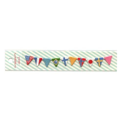 リュリュ 刺繍ワッペンシール 国旗 SWS-12