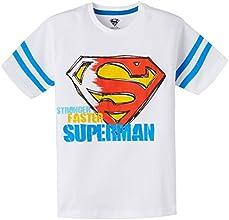 Superman Boys' T-Shirt (SP0DBT94_White_7 - 8 years)