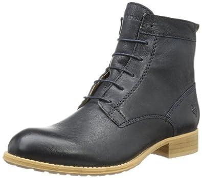 Marc O'Polo Lace Flat Heel Bootie 40110936301101, Damen Stiefel, Blau (dark blue 880), EU 38 (UK 5)