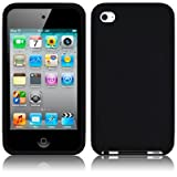 Apple iPod Touch 4TH Generation Soft Silicone Skin CASE - Black [Electronics] (Color: Black, Tamaño: one size)