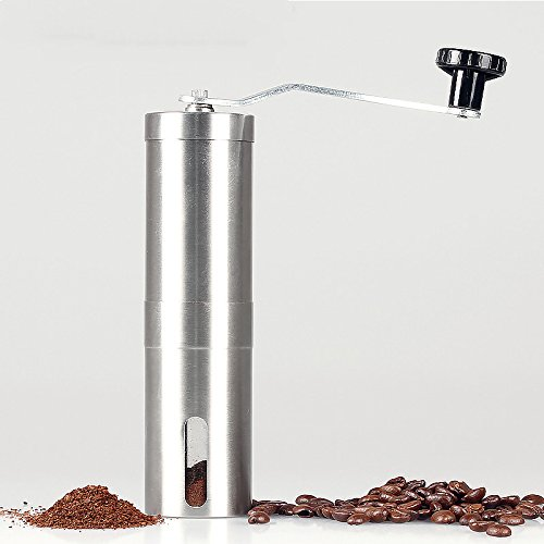 Stainless Steel Manual Coffee Grinder Portable Removable Ceramic Movement Environmental Friendly Lightweight Wearable Easy to Use Outdoor Picnic Trips