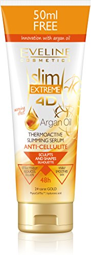Eveline Slim Extreme 4D Argan Oil Thermoactive Slimming Serum Cream with Gold 250ml