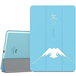 iPad Pro 9.7 Case - MoKo Ultra Slim Lightweight Smart-shell Stand Cover with Translucent Frosted Back Protector for Apple iPad Pro 9.7 Inch 2016 Release Tablet, Sky BLUE (with Auto Wake / Sleep)