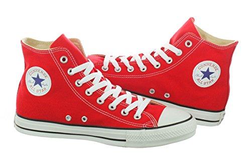 Converse Unisex Chuck Taylor All Star Core Hi Top Sneaker, Red, Men's 12 Women's 14