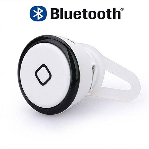 Lentenda Mini Wireless Bluetooth Stereo Mini Headset Mini Earphone Headphone For Iphone Samsung Galaxy Note 2 3 S3 S4 (White+Black)