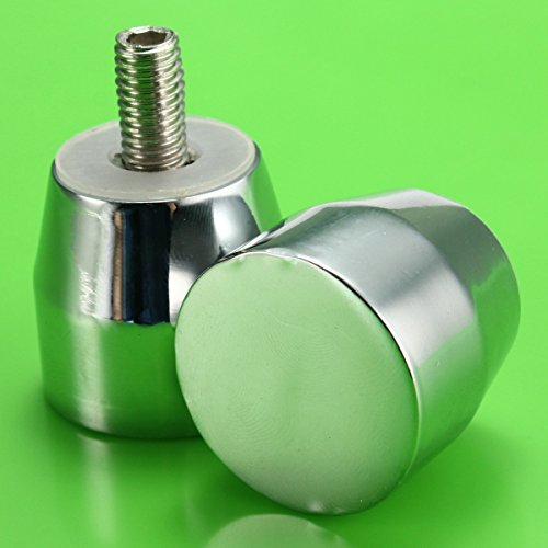 Stainless Steel Shower Door Cabinet Room Handle Knob Chrome Plated Cone Shaped (Gecko Door Handles compare prices)