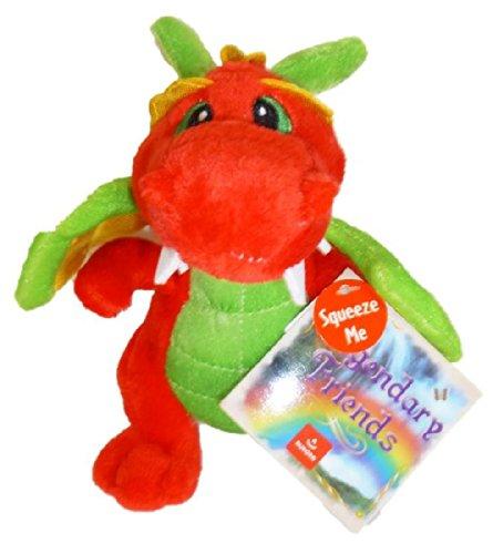 "Aurora ""Legendary Friends"" 7"" Plush Dragon - Red/Green"