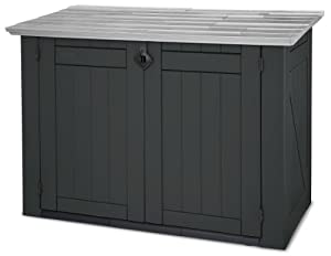 keter 17183491 abri pour poubelles store it out en plastique noir gris taille xl jardin. Black Bedroom Furniture Sets. Home Design Ideas