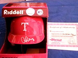 ALEX RODRIGUEZ Signed Rangers Mini Helmet Topps Autograph Yankees Mariners Auto by Signed+Helmet