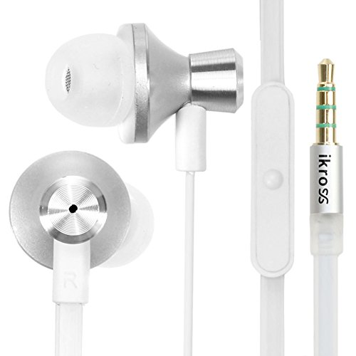 Ikross 3.5Mm Stereo Earbuds With Microphone For Apple Iphone 5C / Iphone 5S / Samsung Galaxy Mega / Note 3 /Galaxy Sv And Other Cellphone Smartphone - Silver
