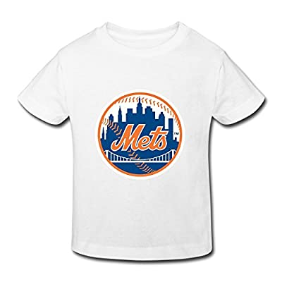 Ambom New York Mets.svg Little Boys Girls Casual T Shirt For Toddlers