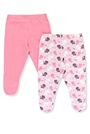 2 Pack Pure Cotton Cat Print Crawler Bottoms