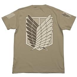 進撃の巨人 調査兵団Tシャツ サンドカーキ サイズ:L