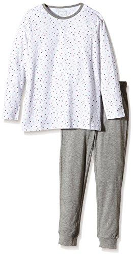 NAME IT Mädchen Zweiteiliger Schlafanzug NITNIGHTSET K G NOOS, Gepunktet, Gr. 122, Mehrfarbig (Bright White)