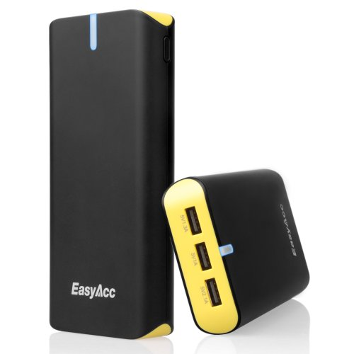 Buy EasyAcc® Ultra 16000mAh 3 USB 22W 4.4A Outputs Power Bank with 18W Input Lighting fast Charging...