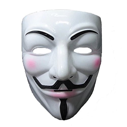 V for Vendetta Mask Halloween Mask Free Size