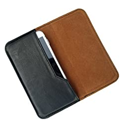 i-KitPit : PU Leather Flip Pouch Case Cover For Spice Coolpad 2 (MI-496) (BLACK)