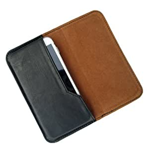 i-KitPit : PU Leather Flip Pouch Case Cover For Micromax Canvas 4 A210 (BLACK)