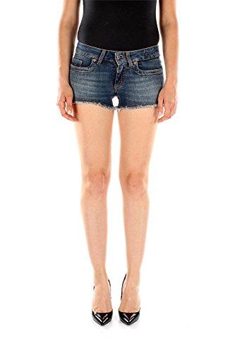 DW159LS40-Bikkembergs-Shorts-Femme-Coton-Bleu