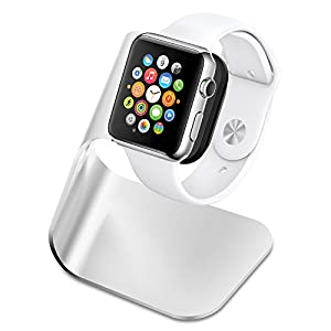 Apple Watch Stand, Spigen® [Charging Dock] Apple Watch Charging Stand **NEW** [Apple Watch Stand] [S330] Aluminum build cradle holds Apple Watch - [Charging Cable & Watch Case & Watch NOT INCLUDED] Comfortable viewing angle easy use quick connection for