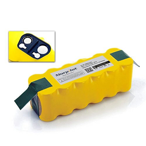 [UL&CE Approval]Morpilot®3800mAh Ni-MH Battery for Irobot Roomba 500 510 530 531 532 533 535 536 540 545 550 552 560 562 570 580 581 585 595 600 620 630 650 660 700 760 770 780 790 800 870 880 (Batteries For Roomba compare prices)