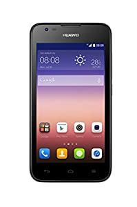 Huawei Ascend Y550 UK SIM-Free Smartphone - Black (4G, 4.5-inch, 1.2 GHz quad core, 5MP and 2MP cameras,  Android 4.4, 4 GB Storage + MicroSD)
