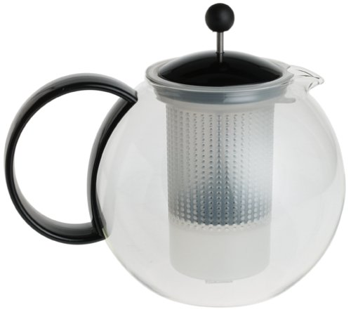 Théière Assam 1,5 L poignée noire* Cette théière comporte un filtre amovible à piston, un couver...