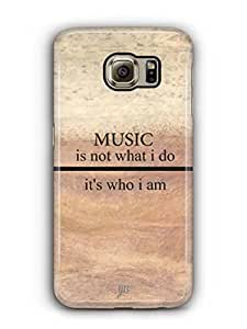 YuBingo Music is Who I am Mobile Case Back Cover for Samsung Galaxy S6