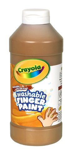 Binney & Smith Crayola(R) Washable Finger Paint, 16 Oz., Brown - 1